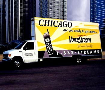 Voicestream Mobile Phone Ad on a Truck